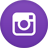 Round purple Instagram icon