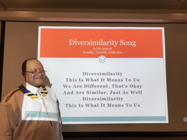 "Joseph Ofori-Dankwa, Harvey Randall Wickes Chair in International Studies, for leading a Cultural Competency session for about 40 colleagues Thursday on the concept of ""diversimilarity,"""