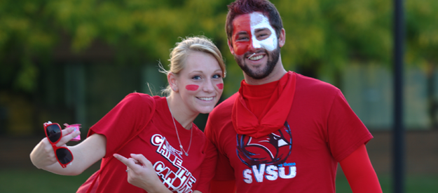 students in Cardinal spirit wear