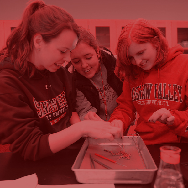 Students at Biology research lab