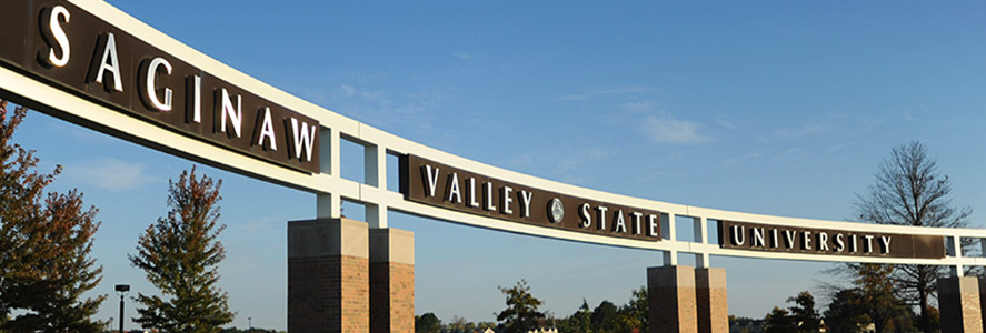 SVSU Bay Road entrance sign