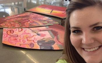 Devereaux Beauchaine Studentinvolved in mural project