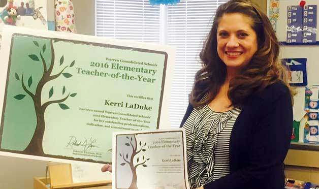 Kerri LaDuke was named Teacher of the Year 2016.