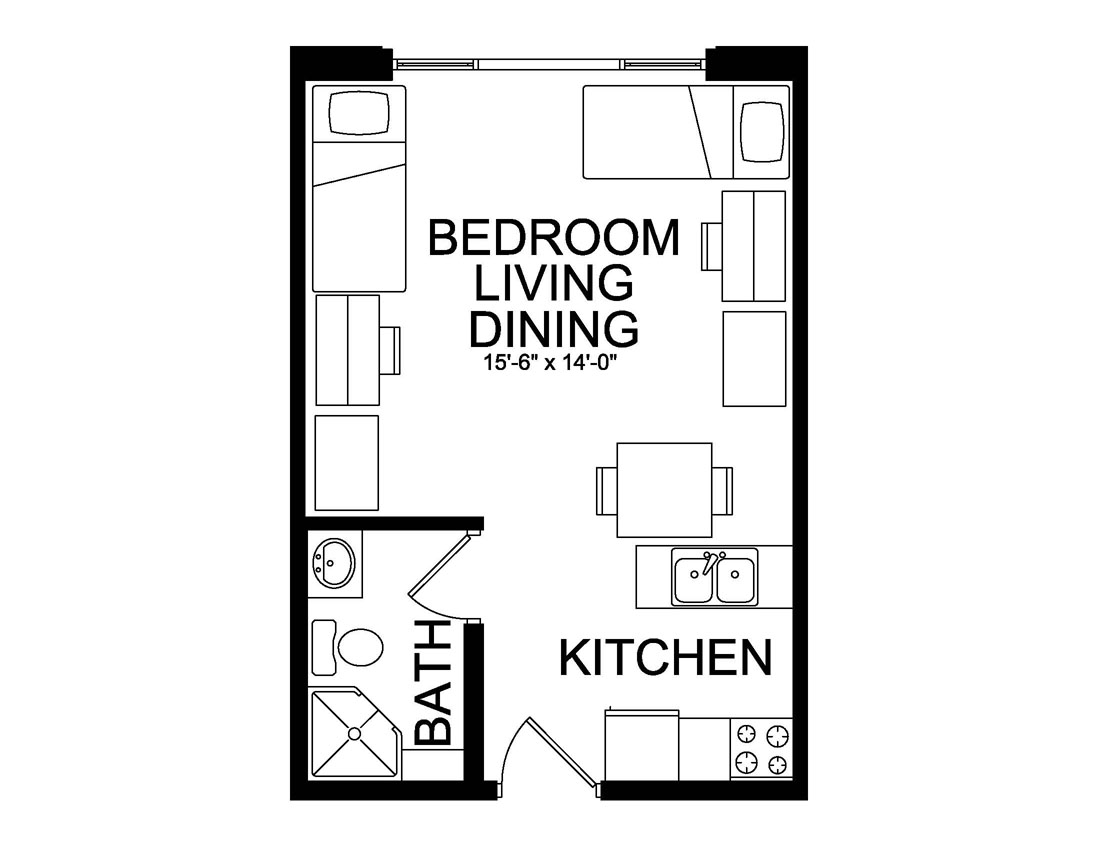 double efficiency floor plan