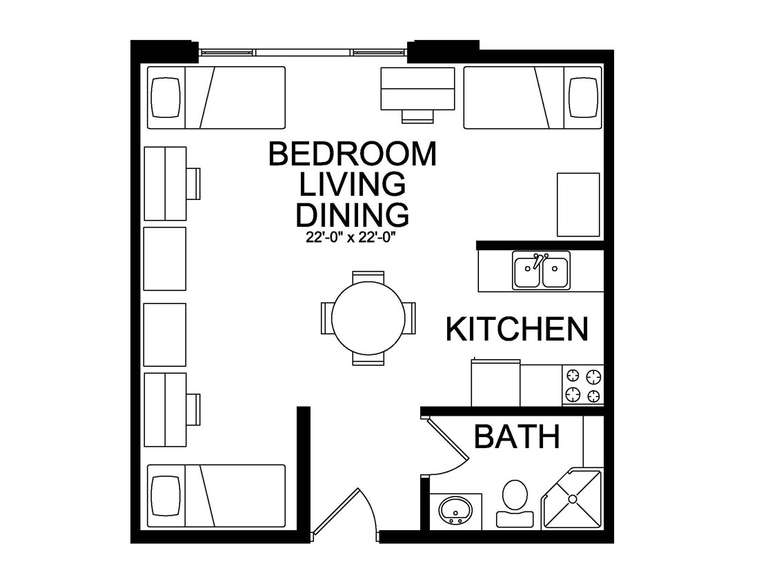 Triple efficiency floor plan