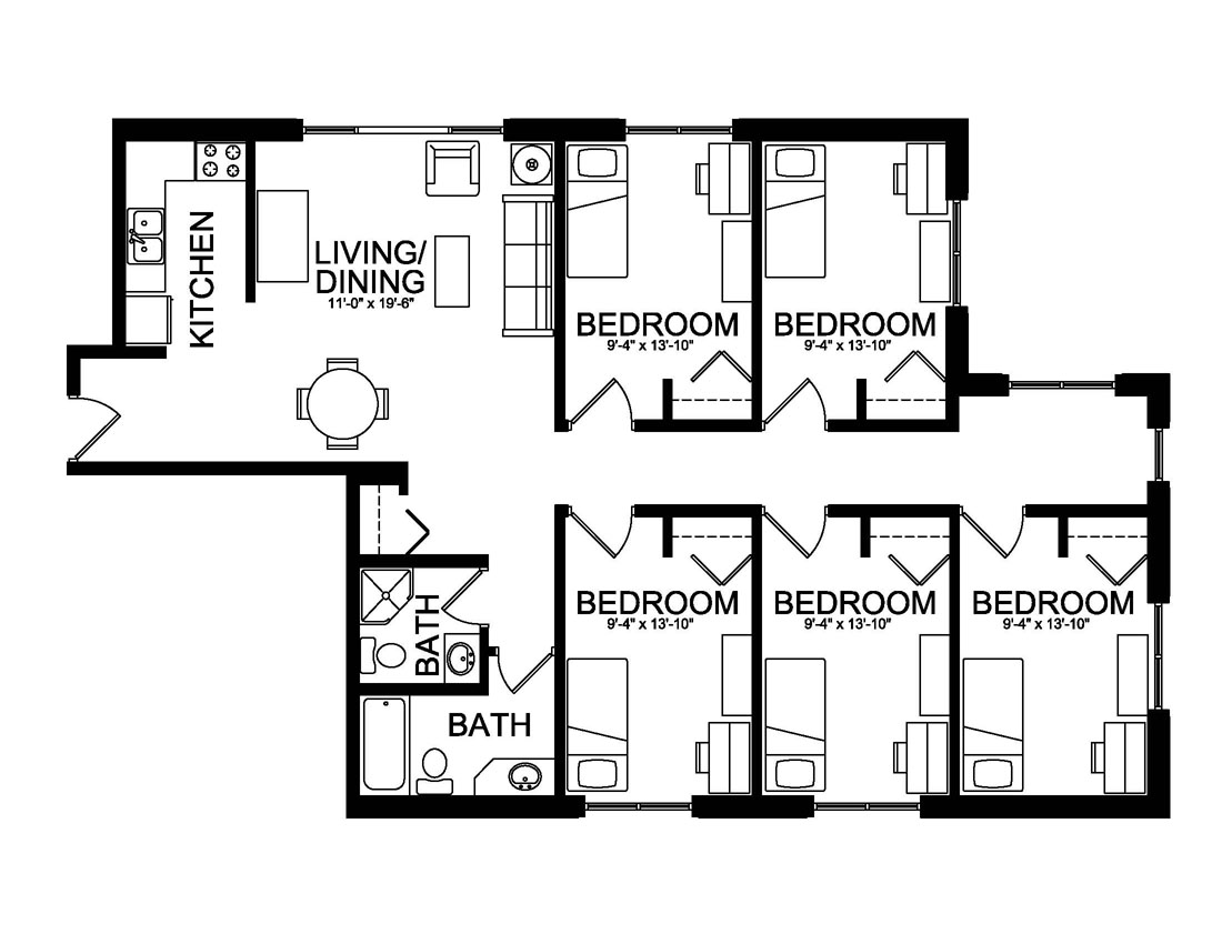 Living Center Suite Floor Plan
