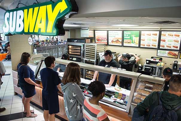 Subway on campus