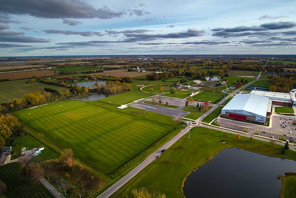 view of all athletic fields