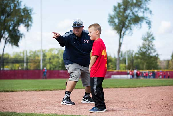 coaching little league baseball
