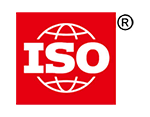 ISO logo, red