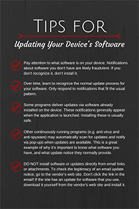 "Image of the poster, ""Update Your Device's Software"""