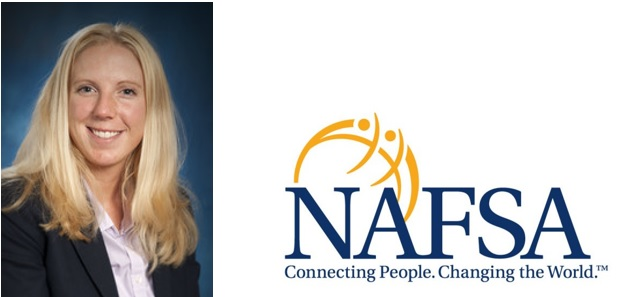 Jenna Briggs pictured next to NAFSA Logo