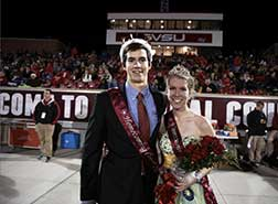 2014 Homecoming King Tom Sutherland and Queen Bethany Thrun