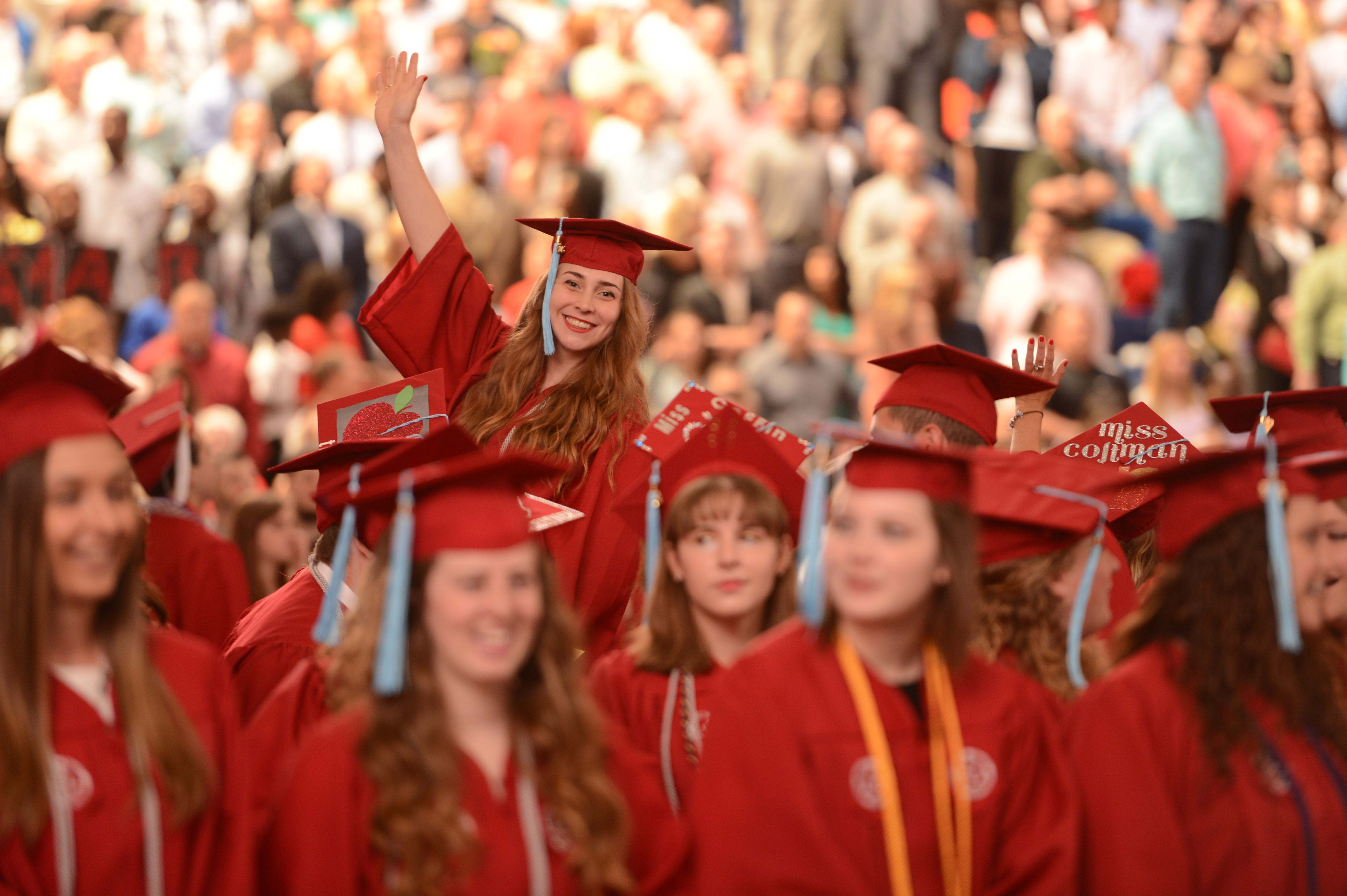 College of Education students at May 2015 Commencement