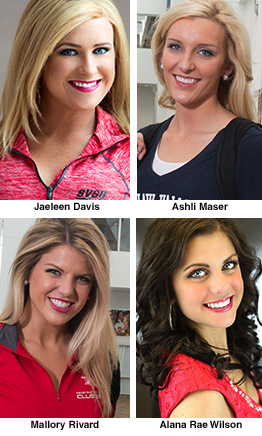 Four SVSU students competiting for Miss Michigan crown: Jaeleen Davis, Ashli Maser, Mallory Rivard and Alana Rae Wilson