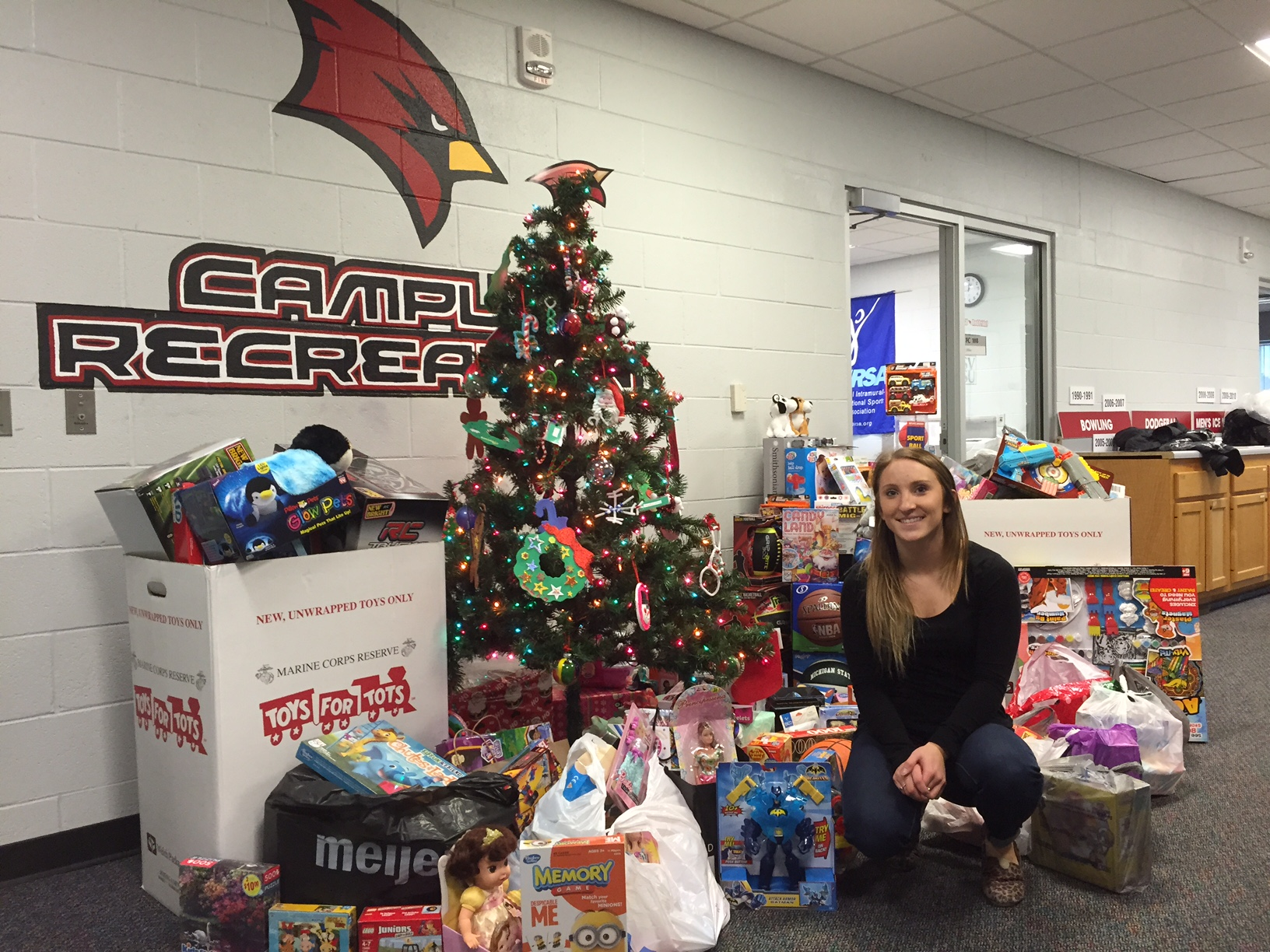 SVSU community collected Toys for Tots this year.