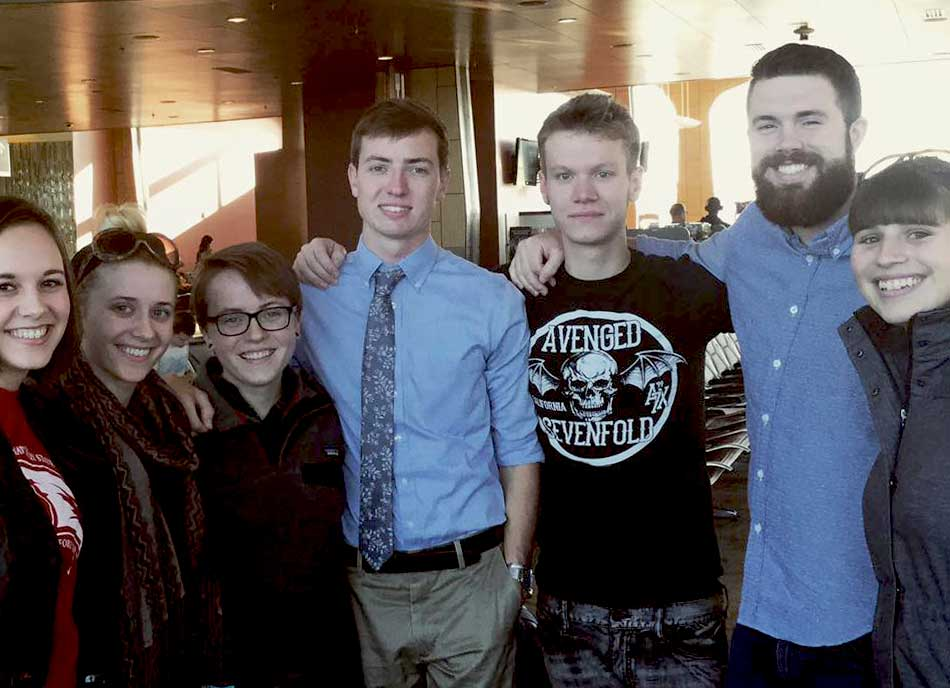 Seven students attending International Writing Centers Association conference.