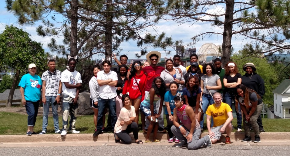 Gear Up students visit several landmarks on their visit around Michigan, including a visit to Lake Superior State University