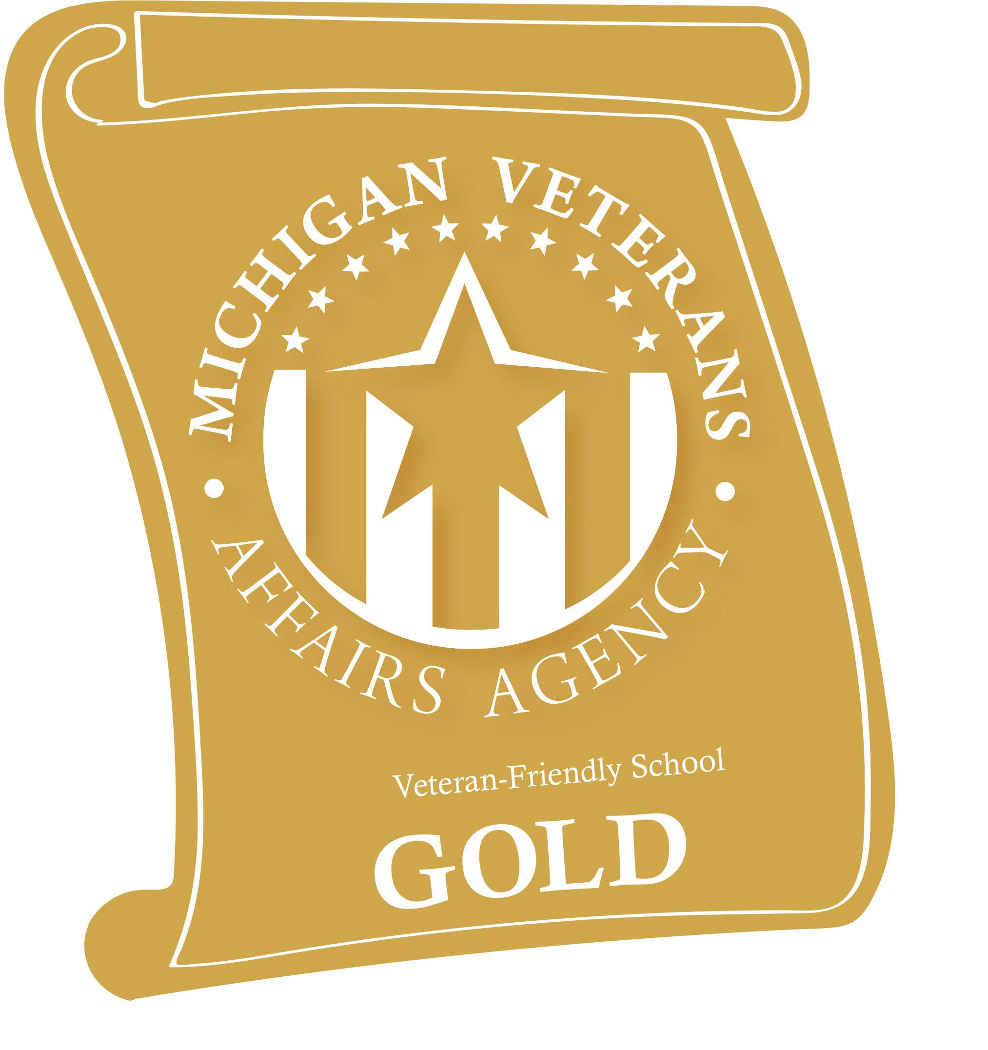 Michigan Veterans Affairs Agency Veteran Friendly Schools gold