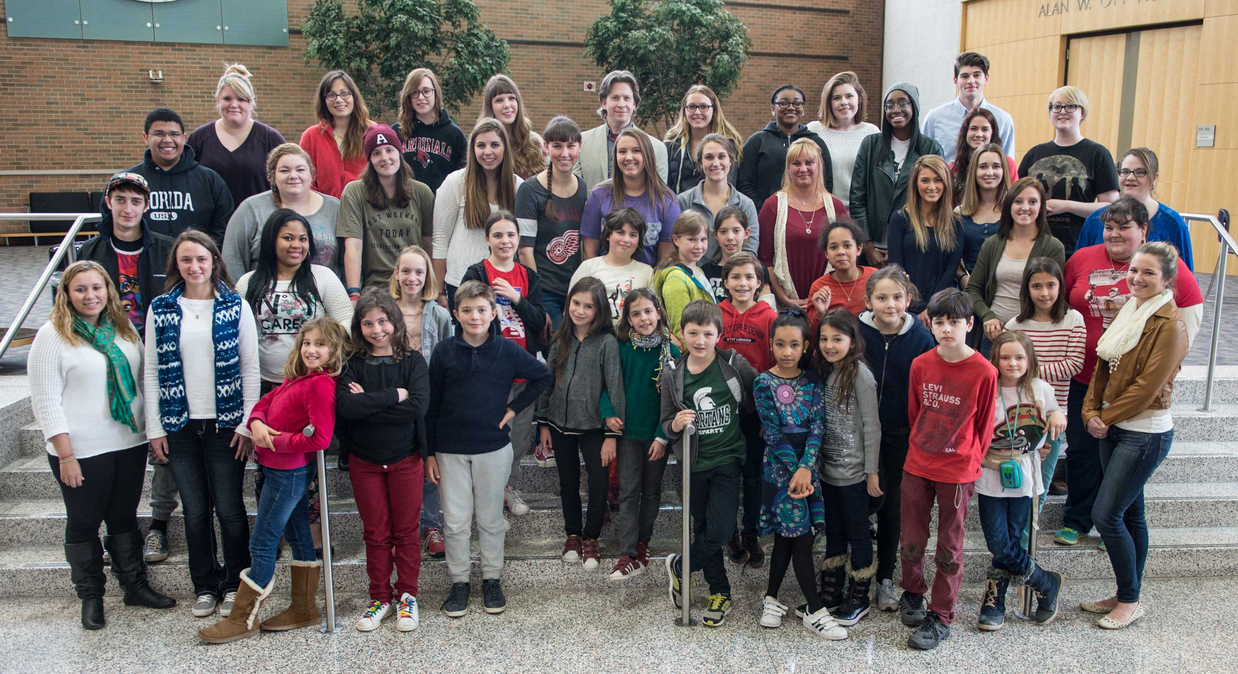 Students from Paris, France on a 10 day exchange in Bay City Public Schools visited campus.