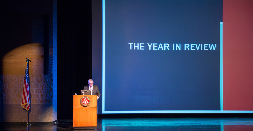 President Don Bachand delivers 2015 State of the University address