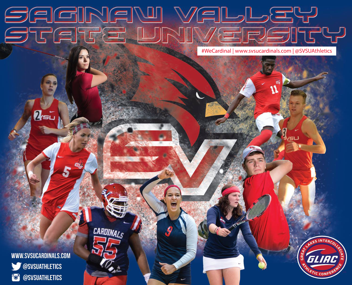 SVSU Athletics Fall 2016 collage
