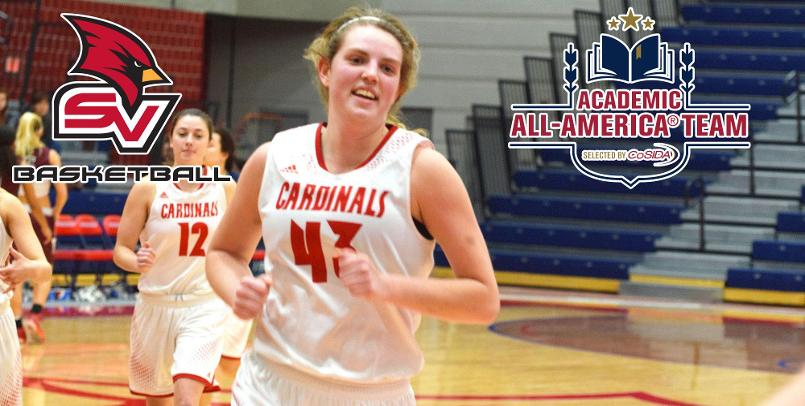 Emily Wendling, an occupational therapy major with a 3.88 GPA has been named Academic All American, she leads the women's basketball team averaging 18.6 points and 9.4 rebounds per game.