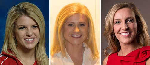 Students Jaeleen Davis and Mallory Rivard, along with May graduate Ashli Maser, are competing for the Miss Michigan crown.