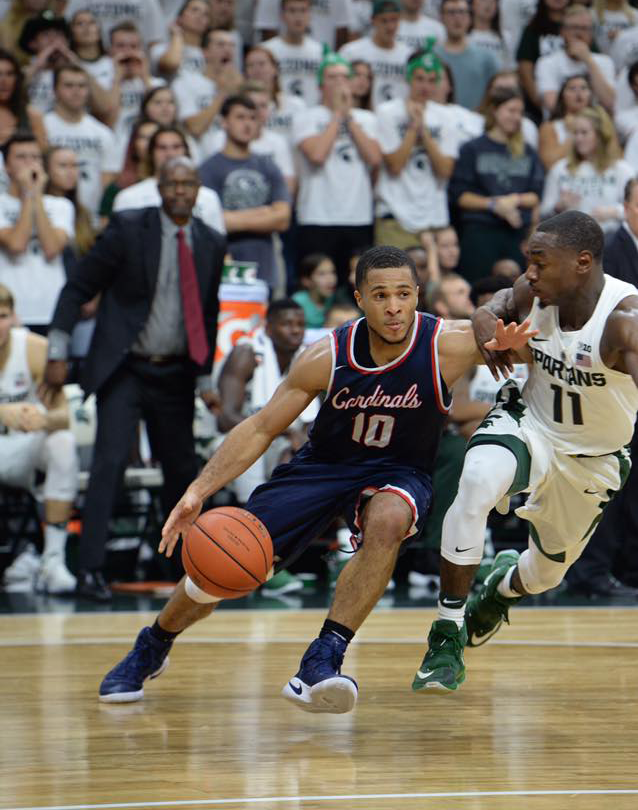 Mens basketball against Michigan State University