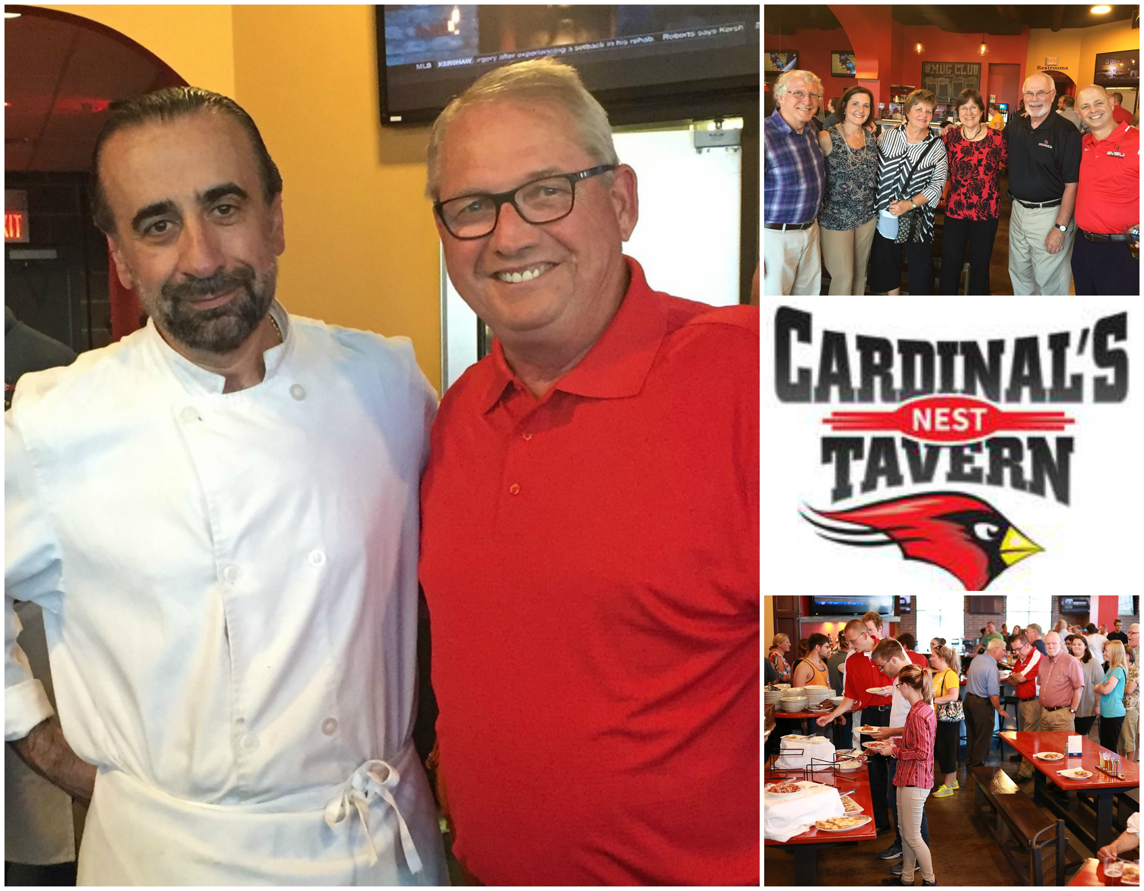 Cardinals Nest Tavern opening party collage