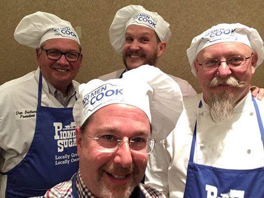 100 Men Who Cook event to benefit the Saginaw Bay Symphony Orchestra. Yours truly was joined by Peter Rose-Barry, Finkbeiner Endowed Professor of Ethics; Cliff Dorne, registrar; Carlos Ramet, associate dean of the College of Arts and Behavioral Sciences; and Mike Watson, director of athletics.
