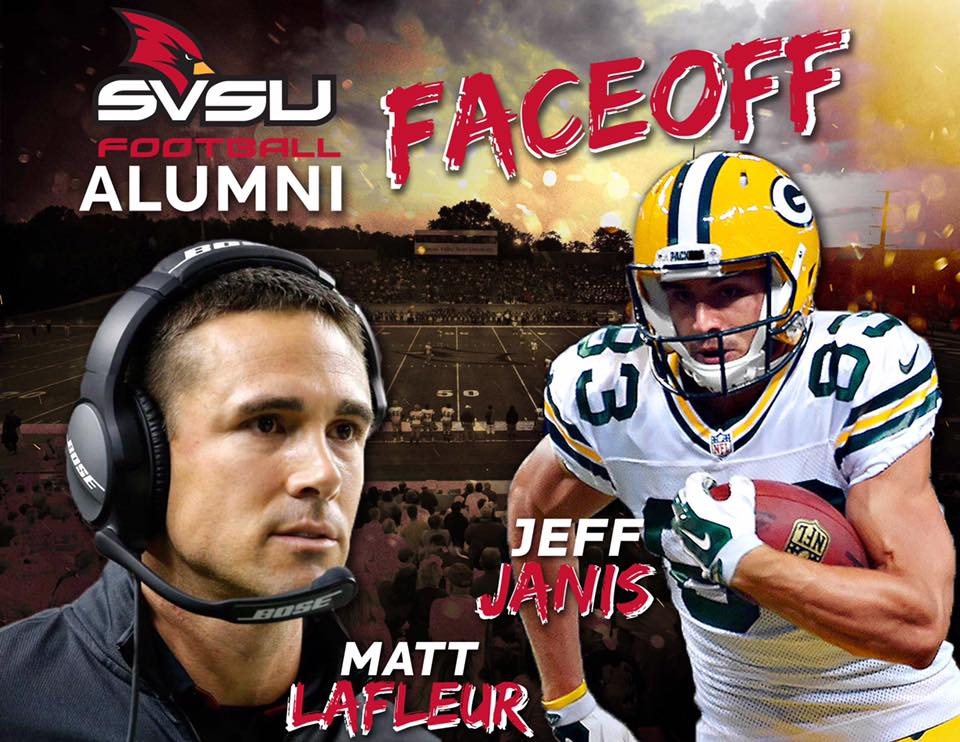 Two SVSU football alumni meet this weekend in the NFC Championship for the right to go to the Super Bowl.  Green Bay's wide receiver and special teams standout Jeff Janis and Atlanta's quarterback coach Matt Lafleur.