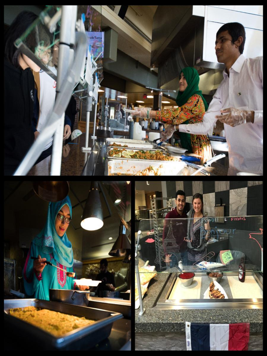 A collage of photos from International Food Festival