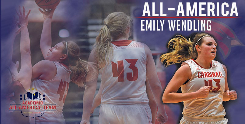 All-America women's basketball student-athlete Emily Wendling