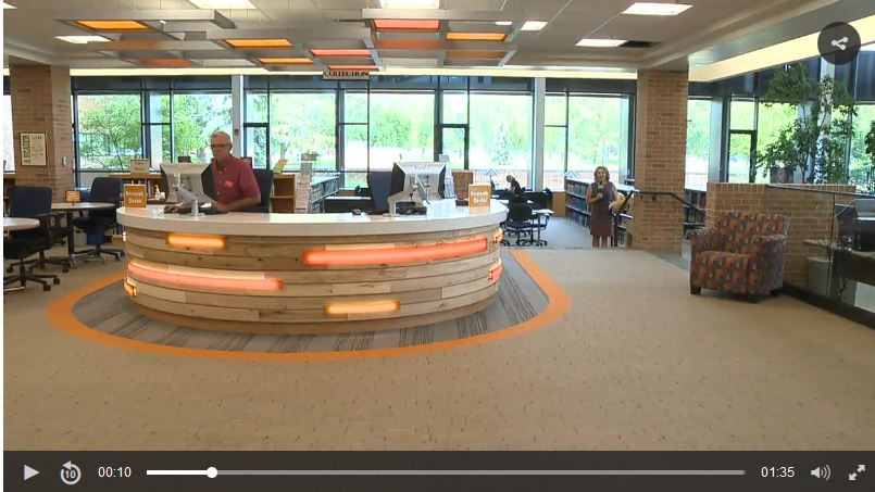 A screenshot of the ABC 12 story about the library renovations
