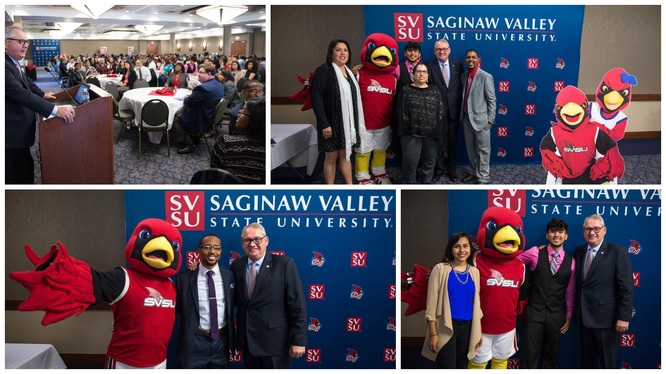 SVSU celebrates graduates of Saginaw Public Schools GEARUp program.