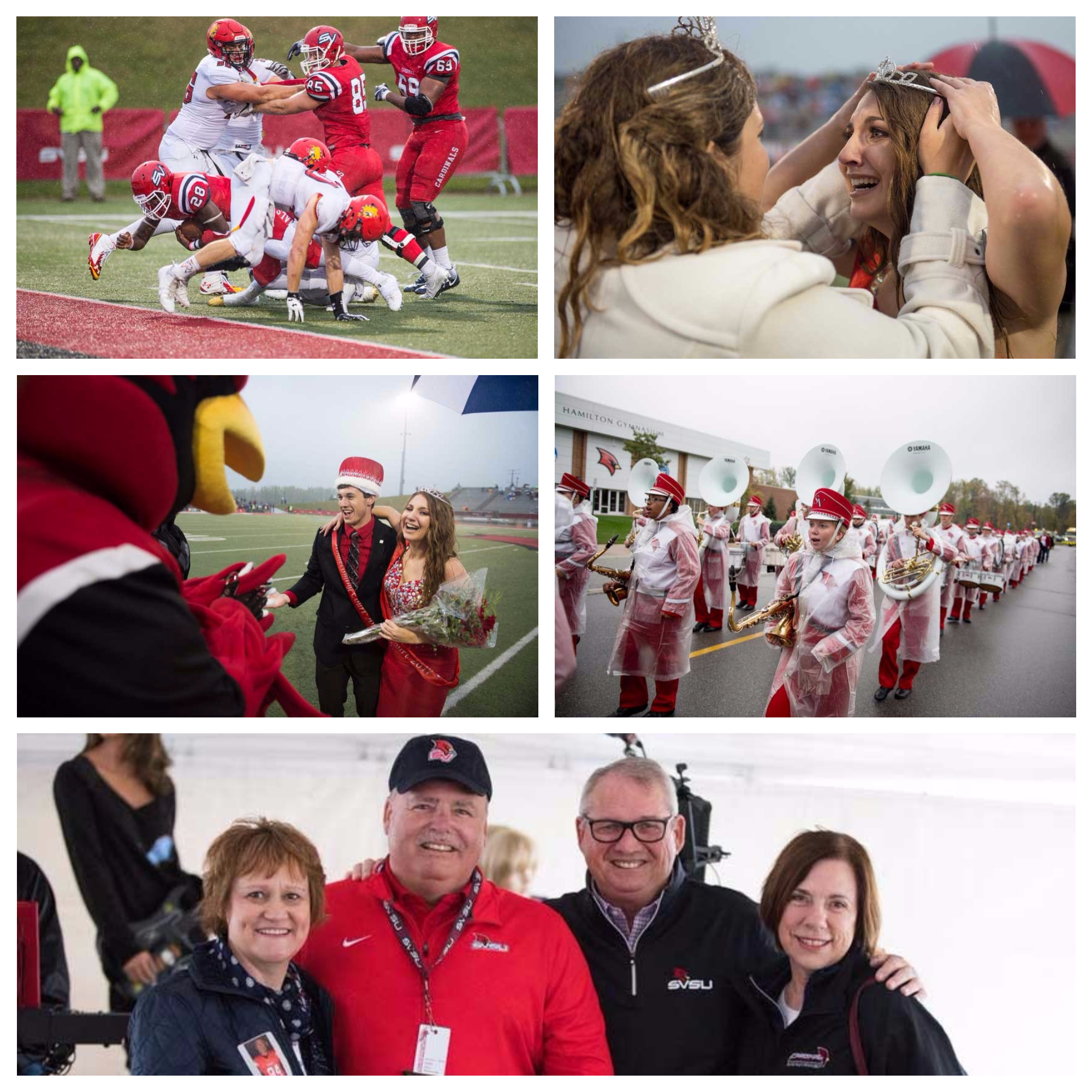A collage of photos from Homecoming.