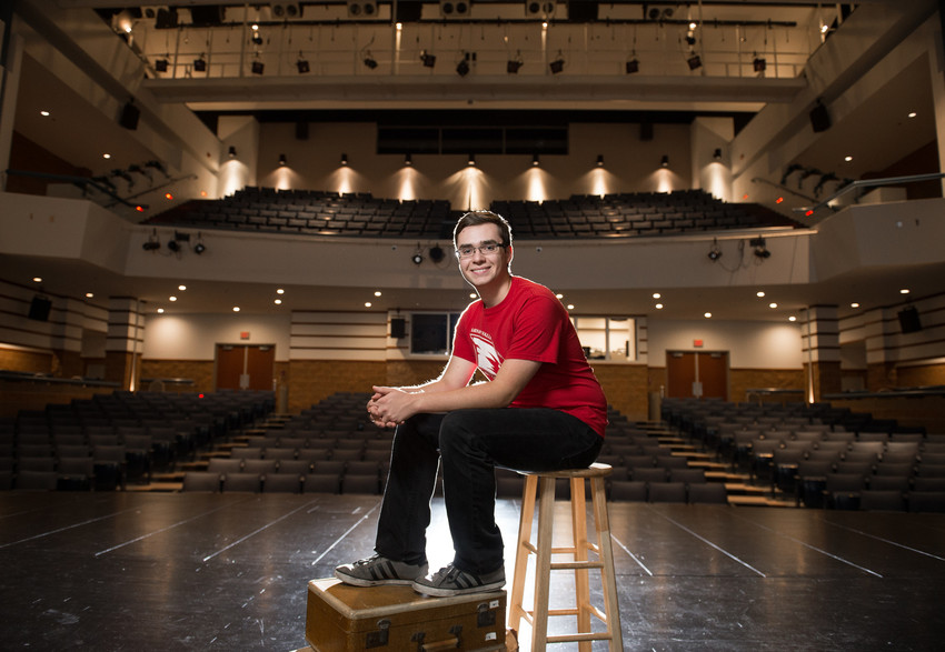 Jacob Kaufman, a theatre major from Bay City, won the first-ever Region III Arts Management Fellowship at Kennedy Center American College Theatre Festival for Region III in Indianapolis.