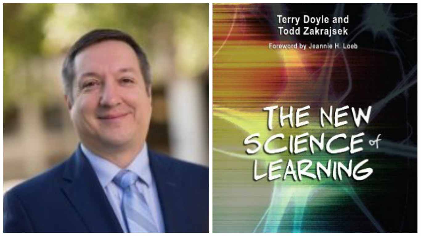 "Todd Zakrajsek, the associate director of the Faculty Development Fellowship at the University of North Carolina at Chapel Hill. Book cover, ""The New Science of Learning."""
