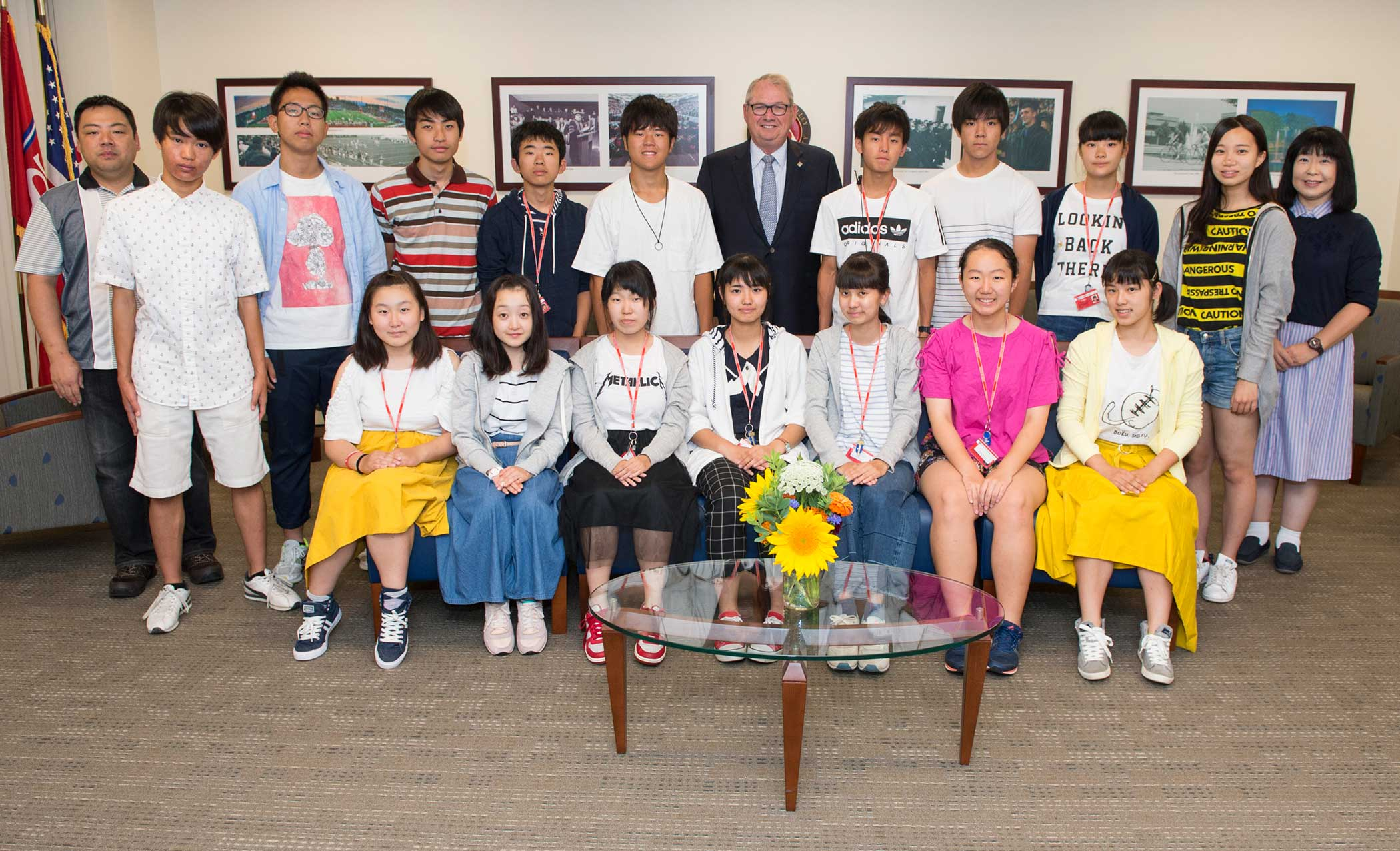 A group of high school students visit from Tokushima, Japan.