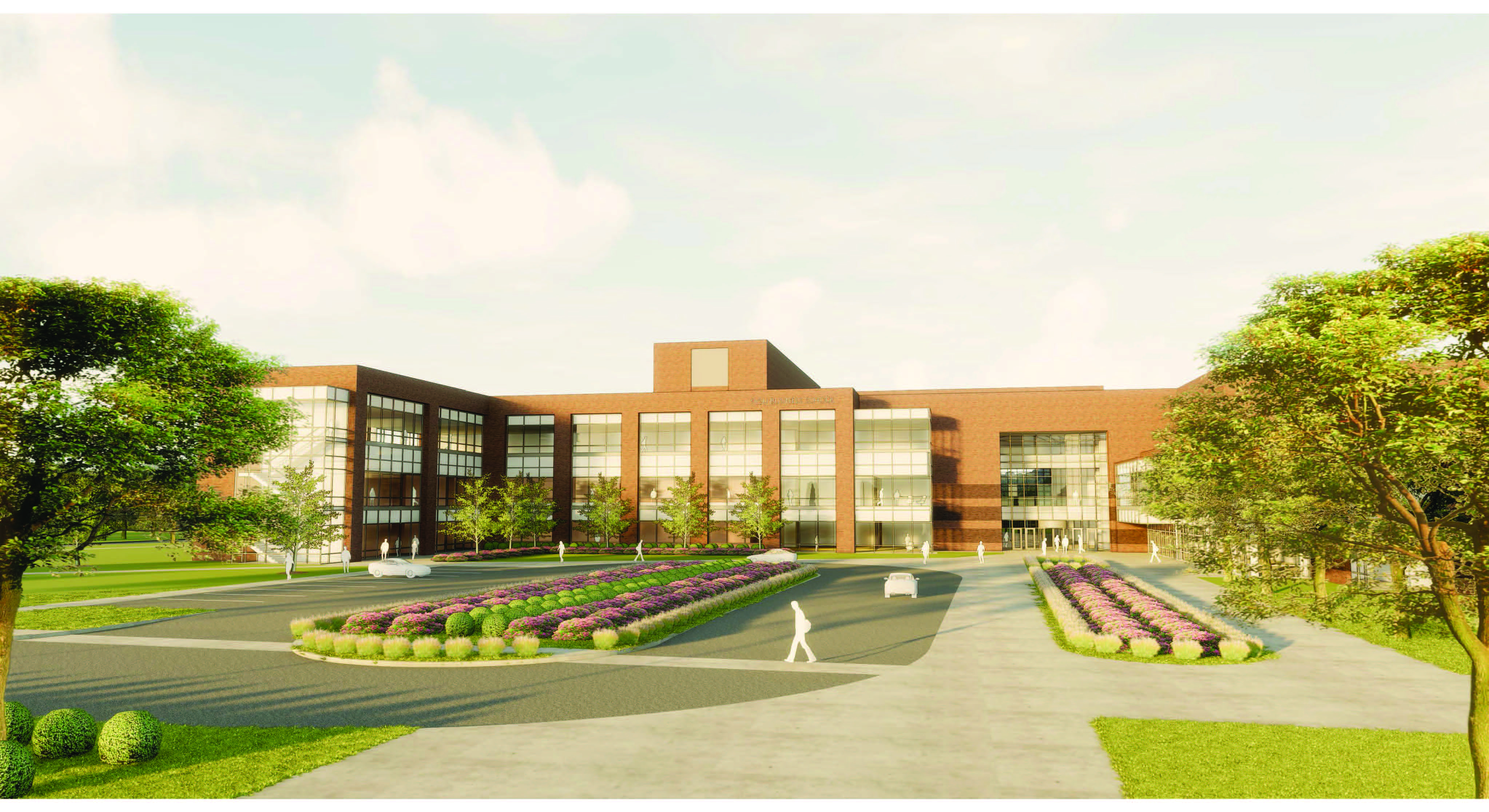 Rendering of College of Business building expansion project.