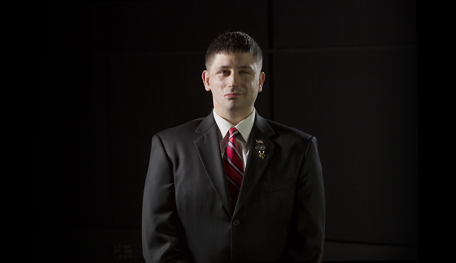 Douglas Szczepanski, a retired U.S. Army sergeant and 2011 alumnus, founder of the Miracle Soldier Inc. organization.