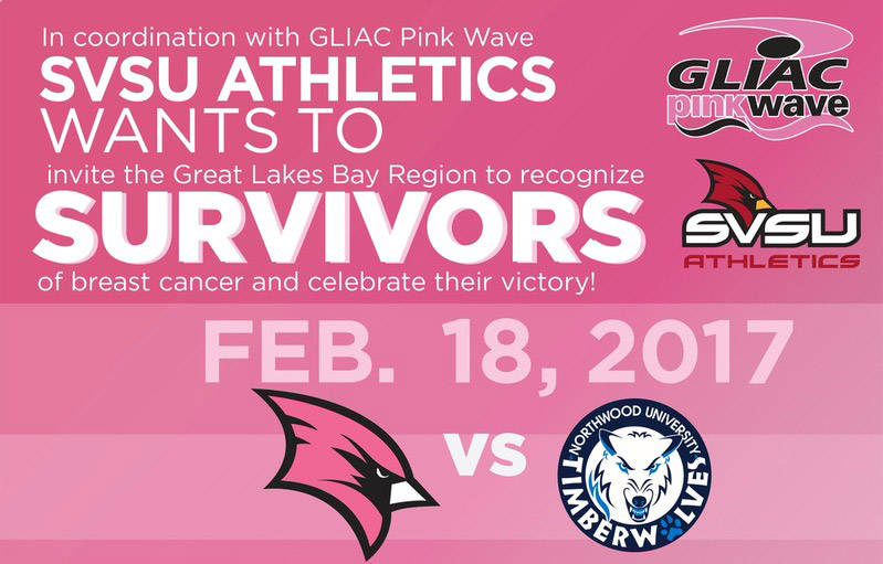 SVSU's annual breast cancer survivor reception and recognition event as part of the GLIAC's Pink Wave week.
