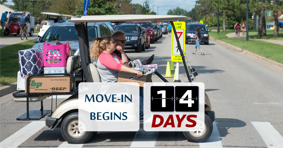 Move in golf cart 14 days countdown