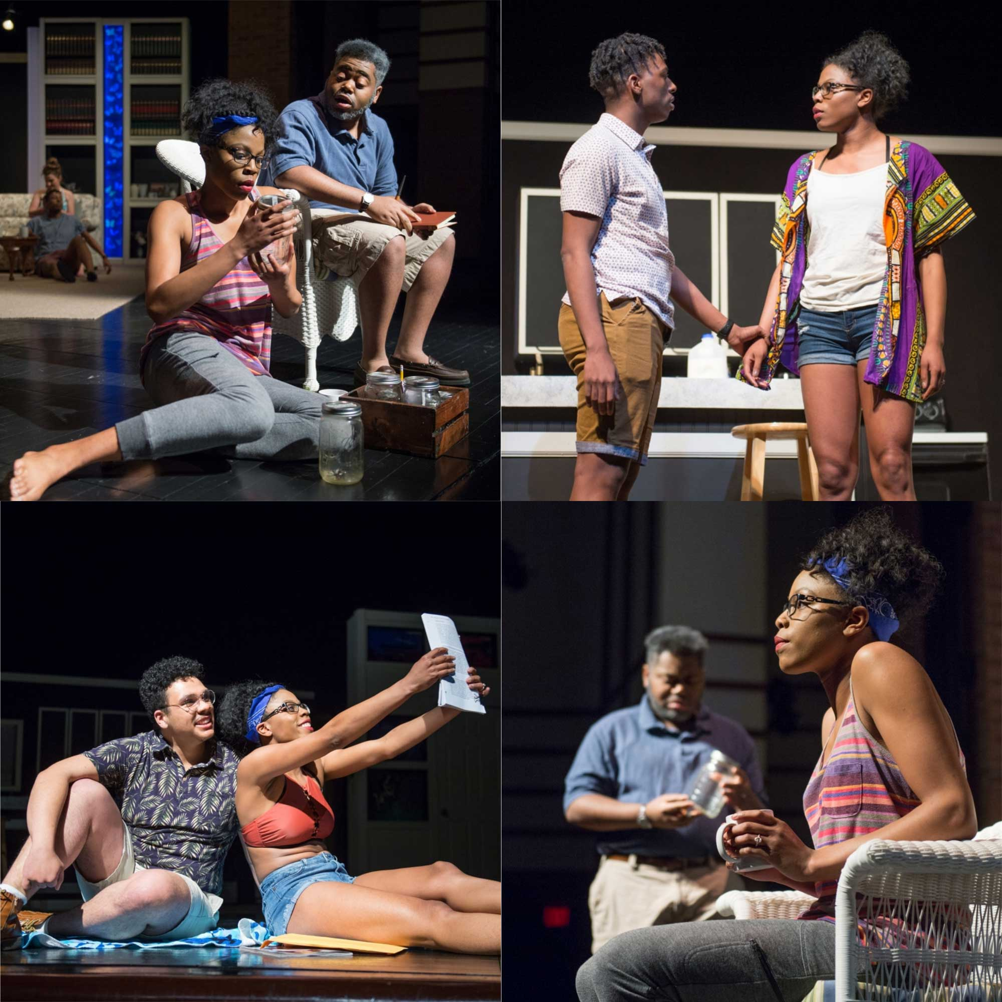 Collage of images from Theatre production of Stick Fly