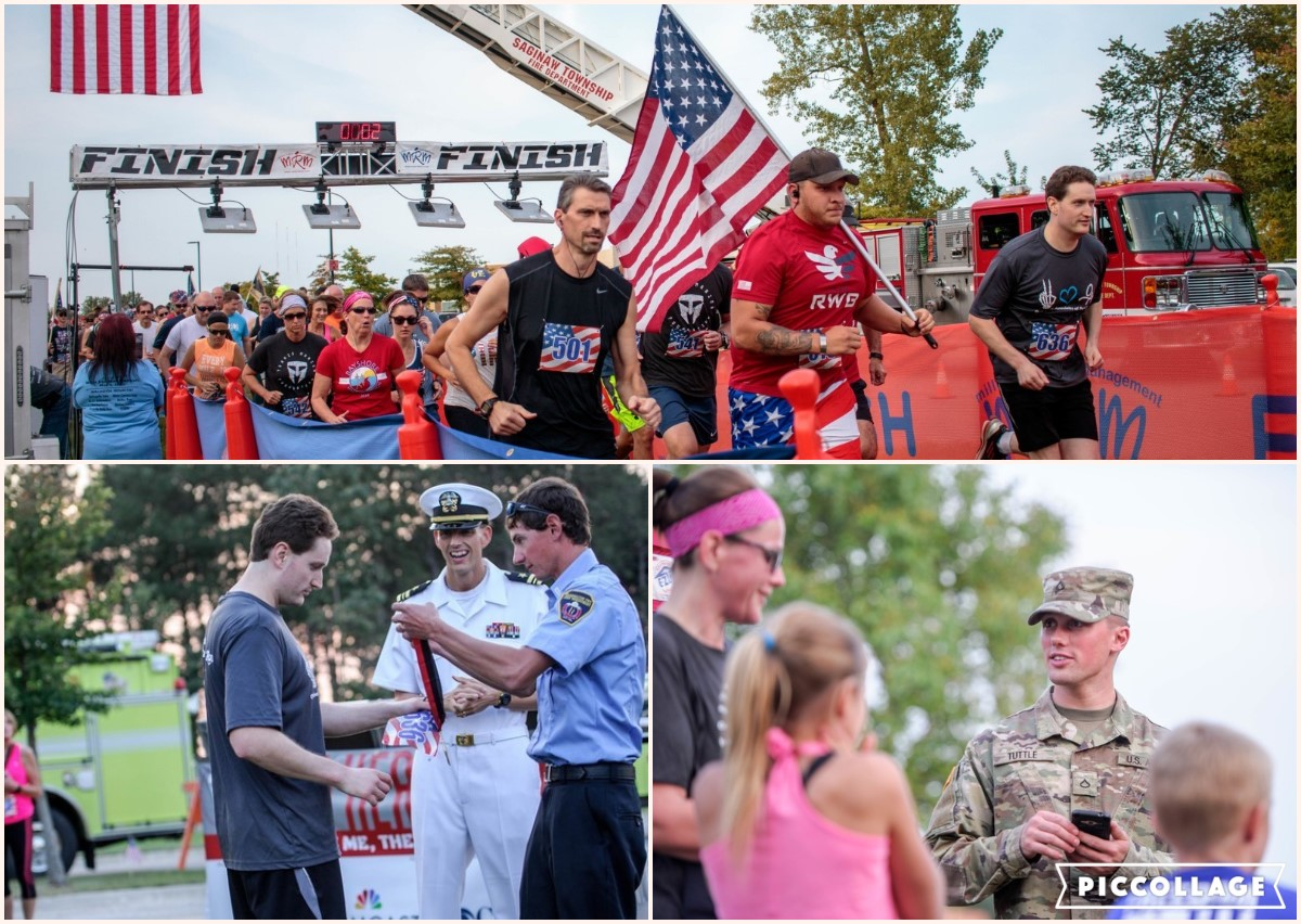A collage of photos from Heroes run