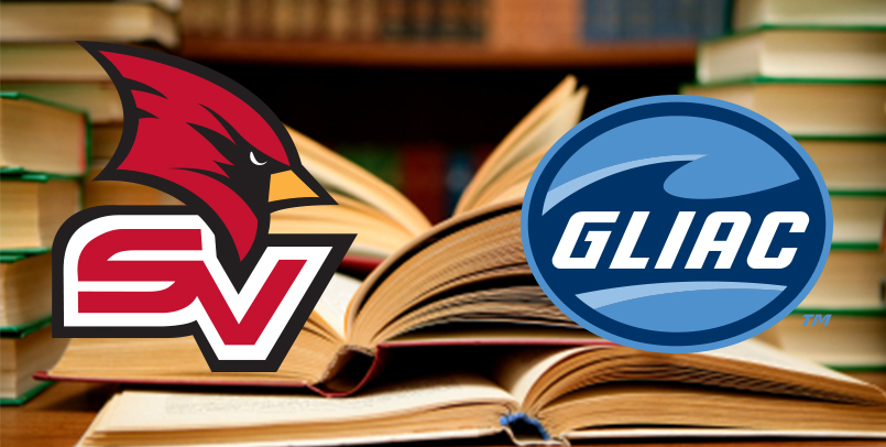 Books in the background with the SV logo and the GLIAC logo in front.