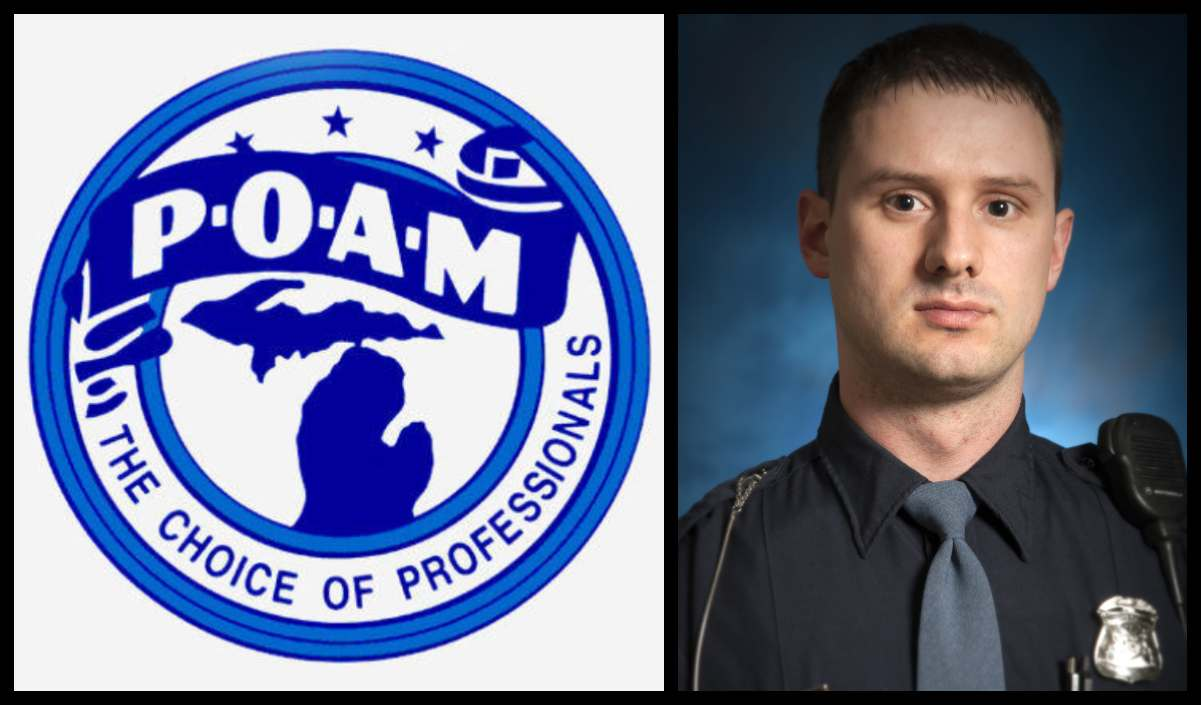 Matthew Meissner, one of our University Police officers, selected by the Police Officers Association of Michigan's as a 2018 Police Officer of the Year.