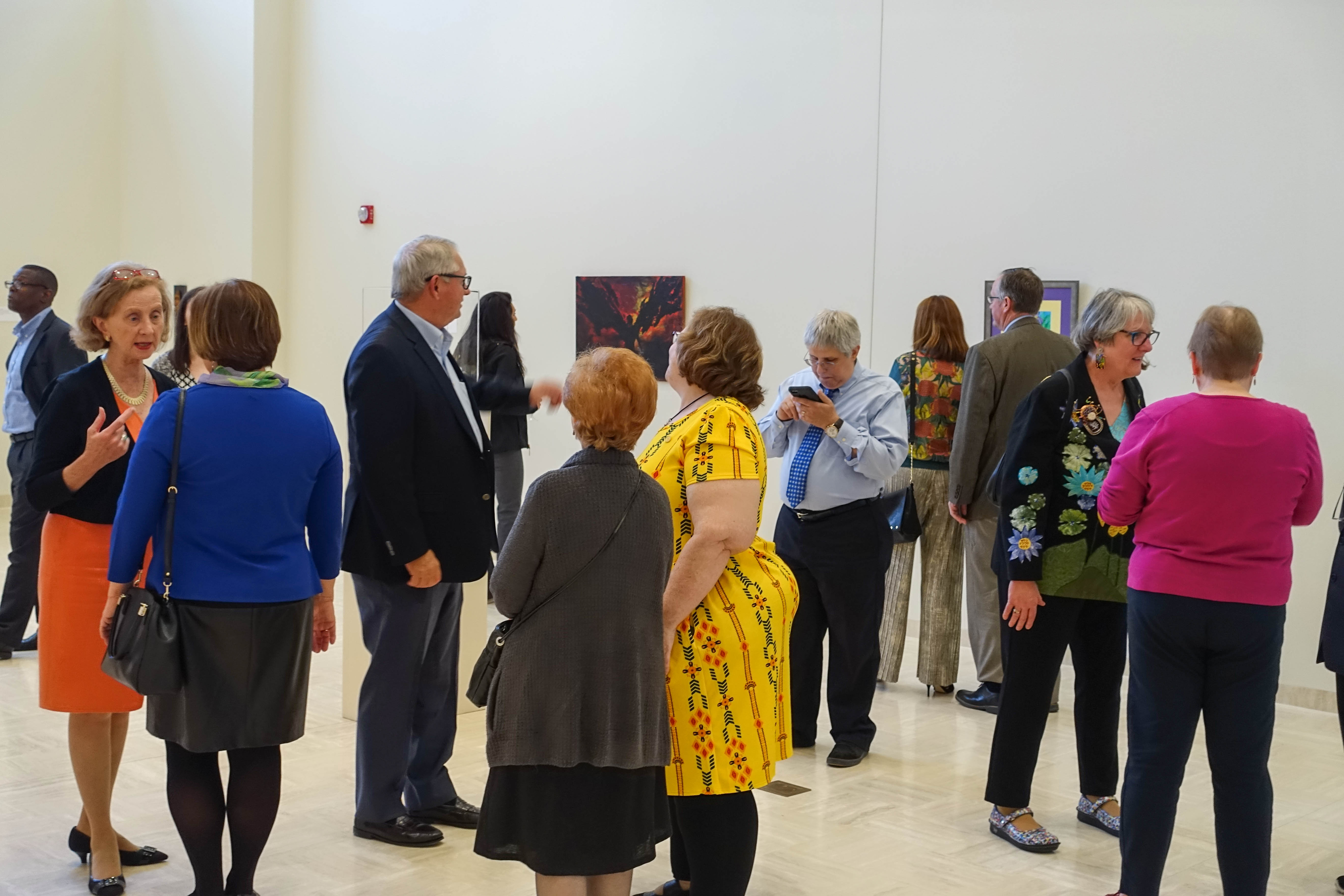 Visitors to the 2017 Creative Cardinals exhibit