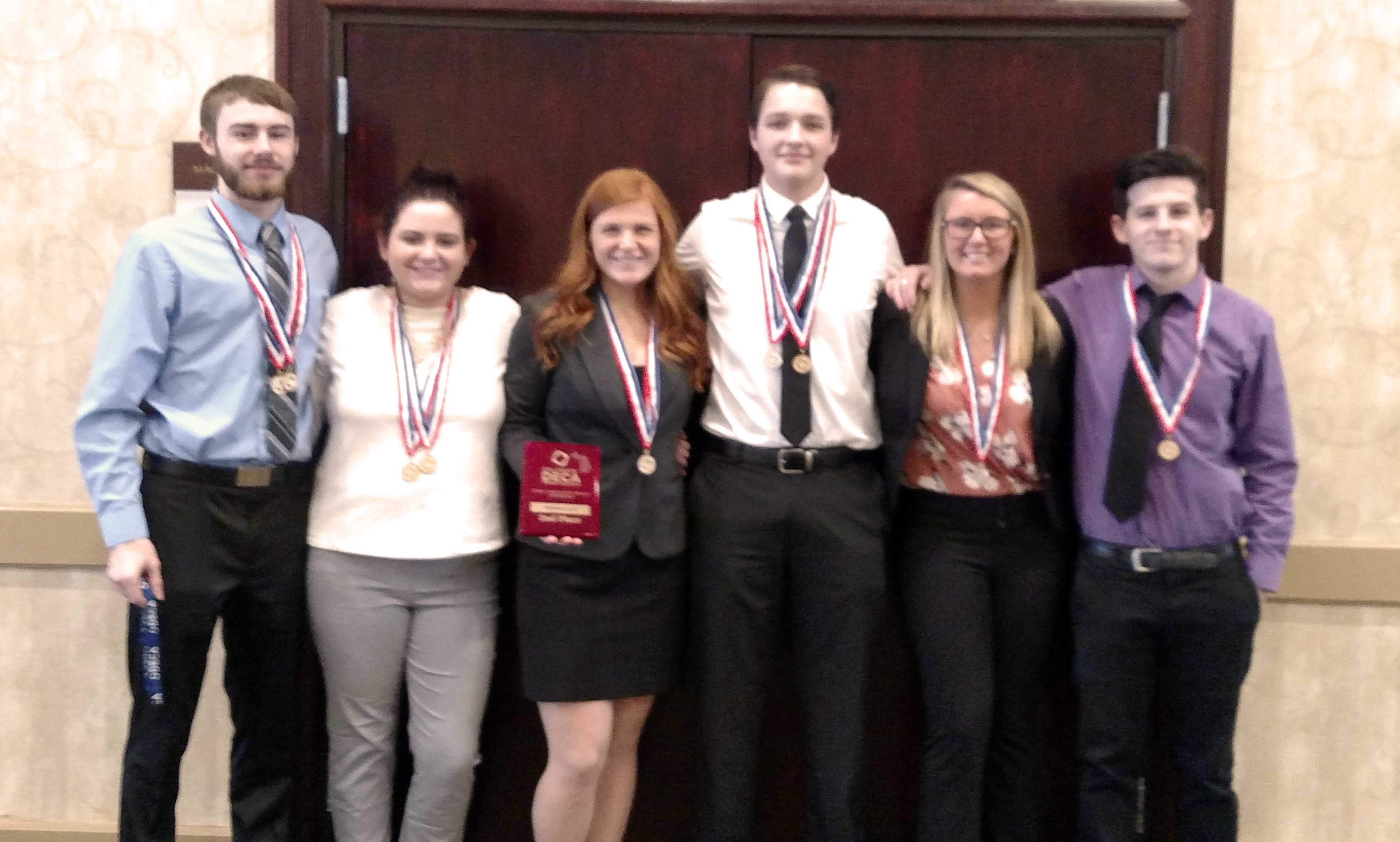 All six of our students who competed at the statewide contest for DECA in Grand Rapids last weekend qualified for the national competition in Washington, D.C. this April.